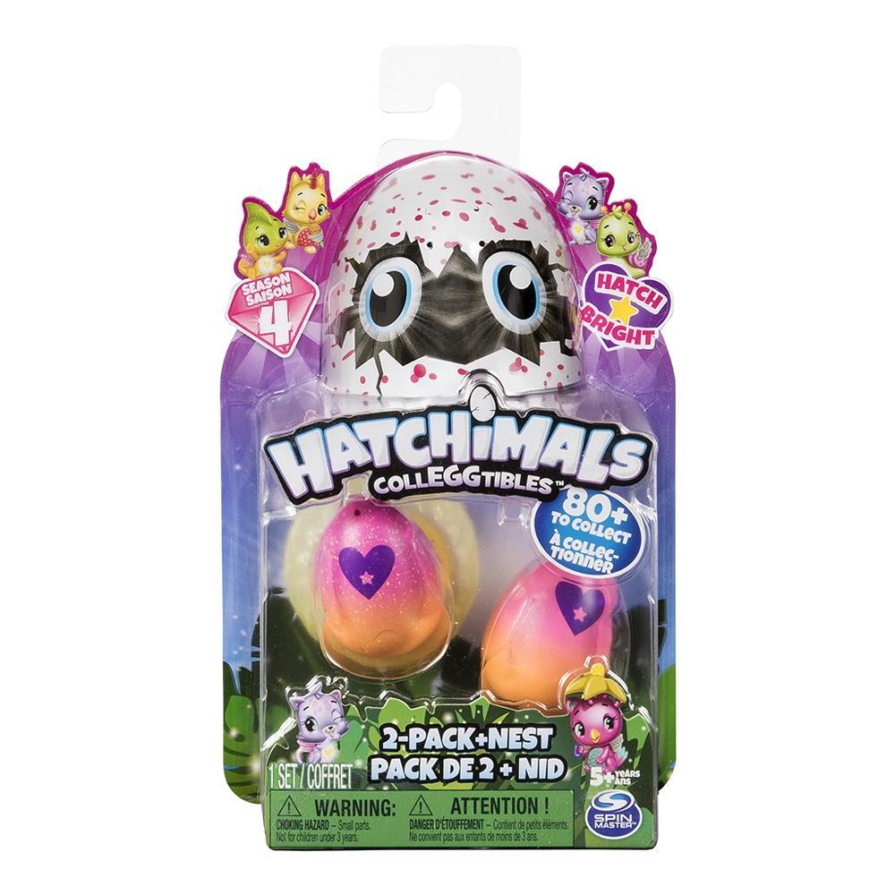 Walmart en linea  Dúo de figuras brillantes sorpresa Hatchimals Colleggtibles y nido