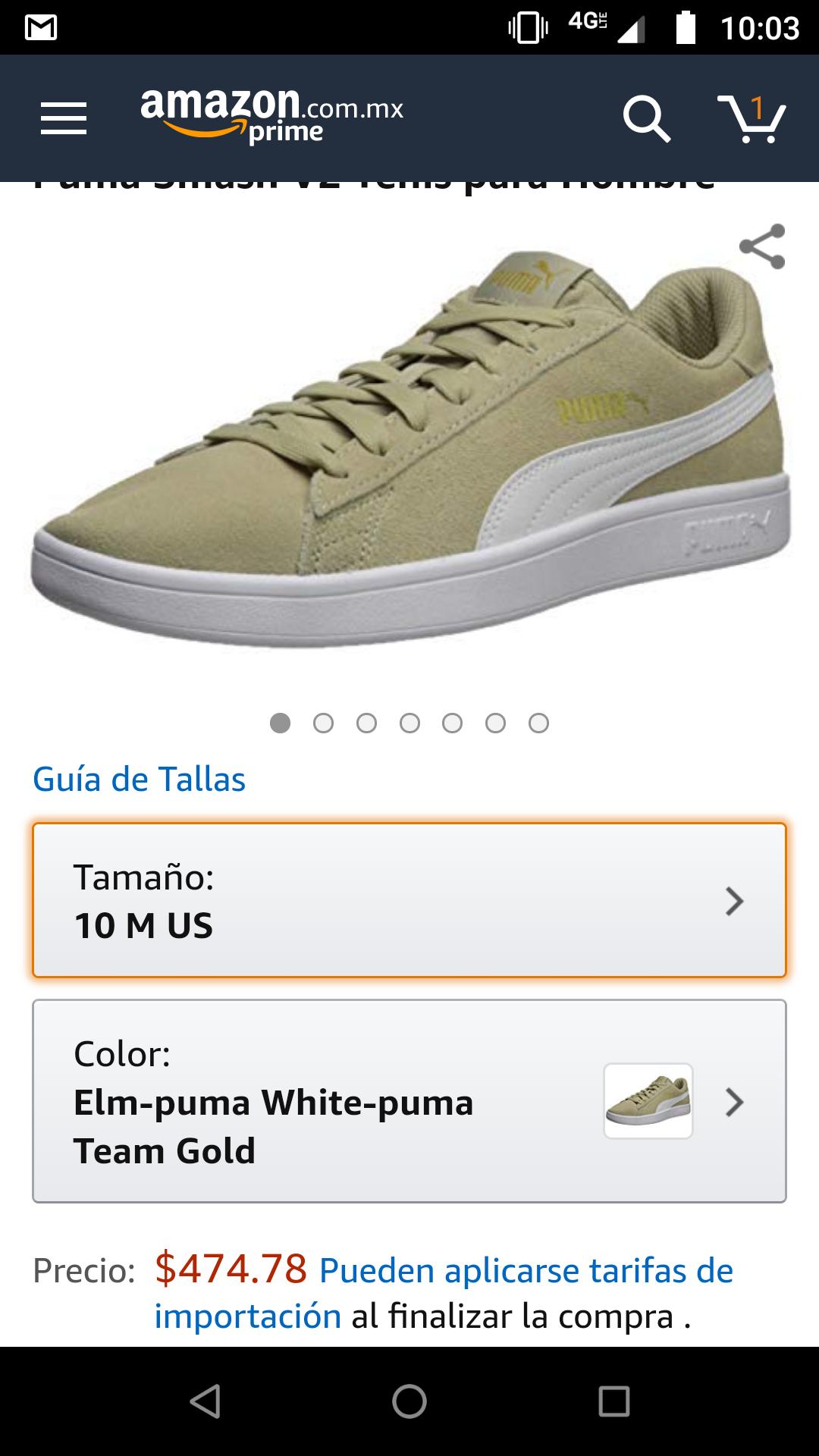 Amazon: tenis puma smash V2 a buen precio