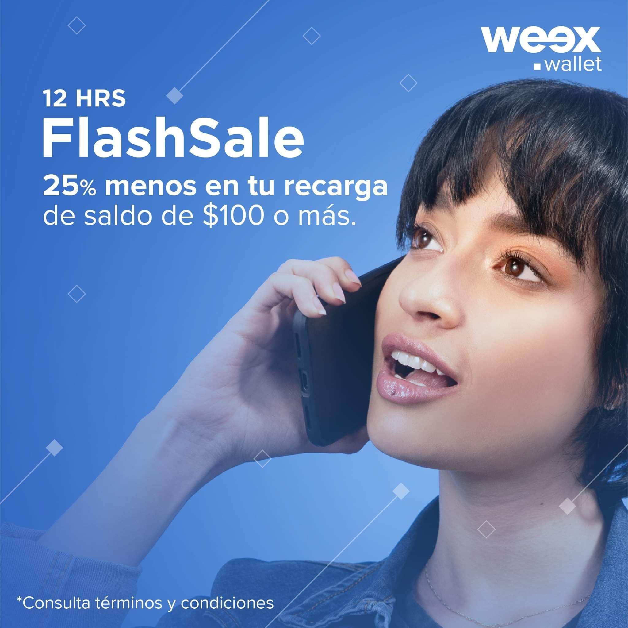 weex wallet : 25% de descuento en recargas (  Te Regresan en 25%  en la app  Tope de 50 pesos)