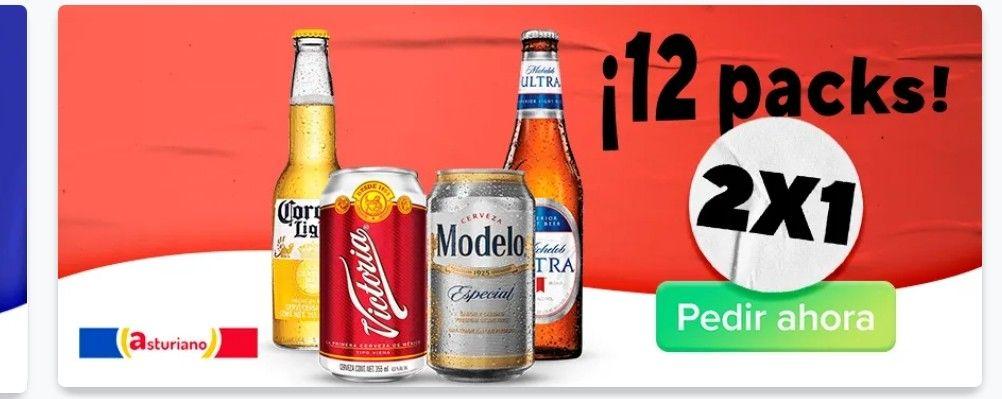 12's de Cerveza 2x1  pidiendo al ASTURIANO por RAPPI