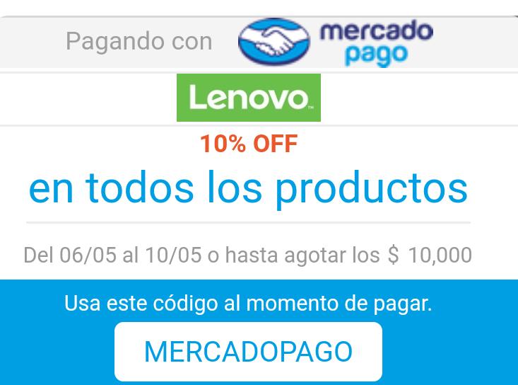 MercadoPago: Descuentos Apartir del 6 de mayo - Lenovo, Tienda Monte ,Ali express, Elektra y más..