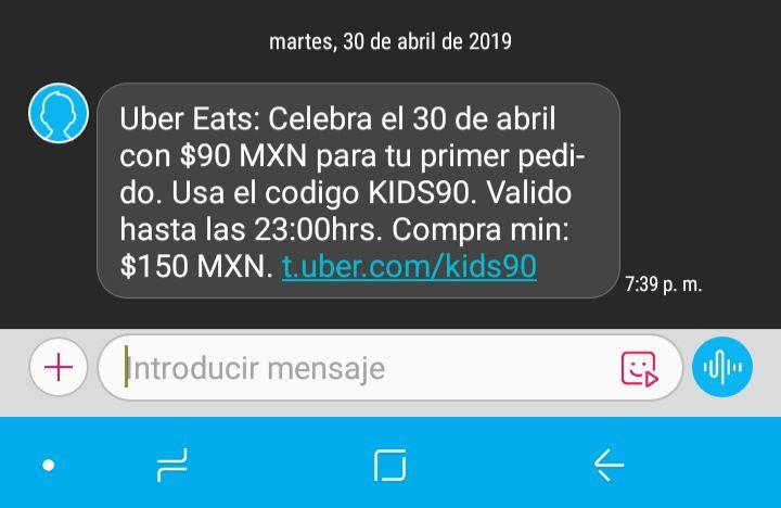 Uber Eats: $90 de Descuento Nuevos Usuarios