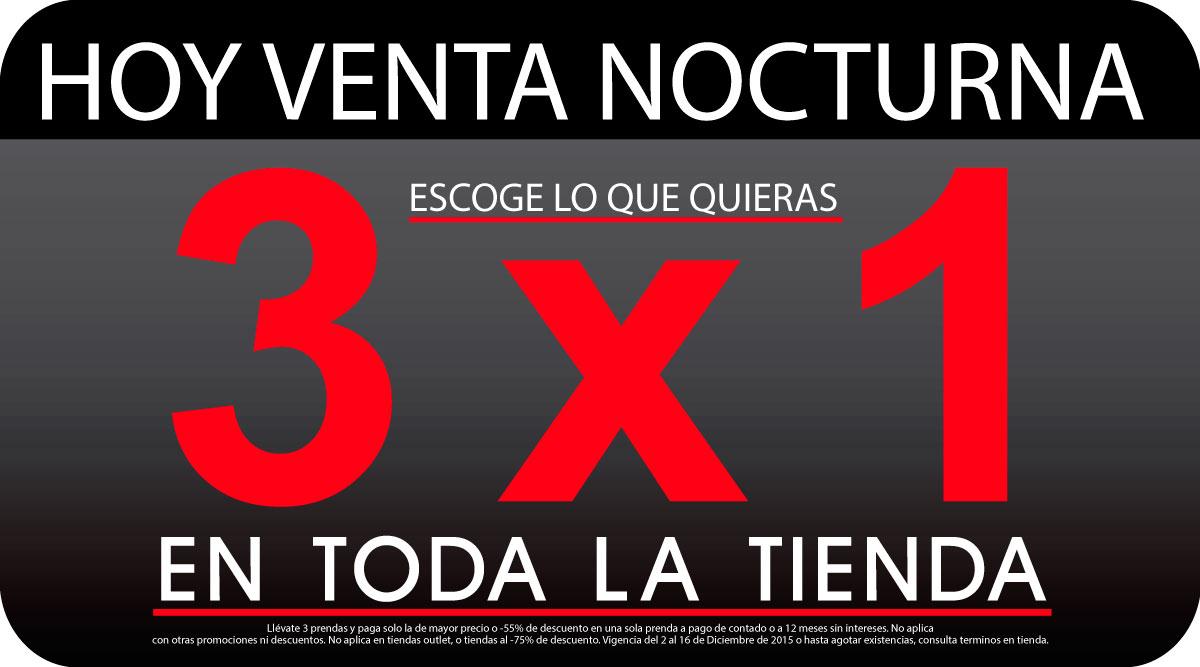 Aldo Conti: Venta Nocturna 3x1 en toda la tienda