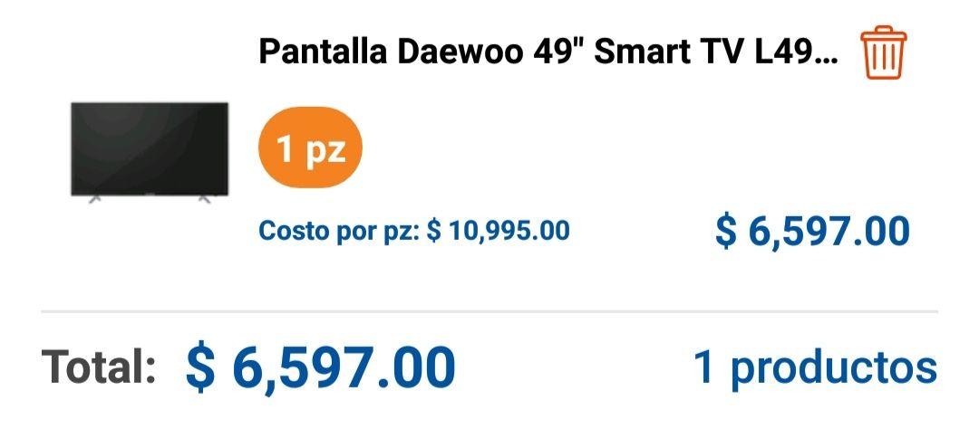 "Chedraui: Pantalla Daewoo 49"" Smart TV L49S7800T"
