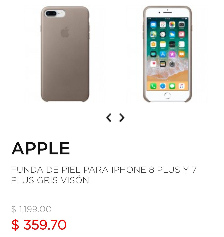 Palacio de Hierro: Funda Original Apple de Piel para iPhone 8 Plus y 7 Plus