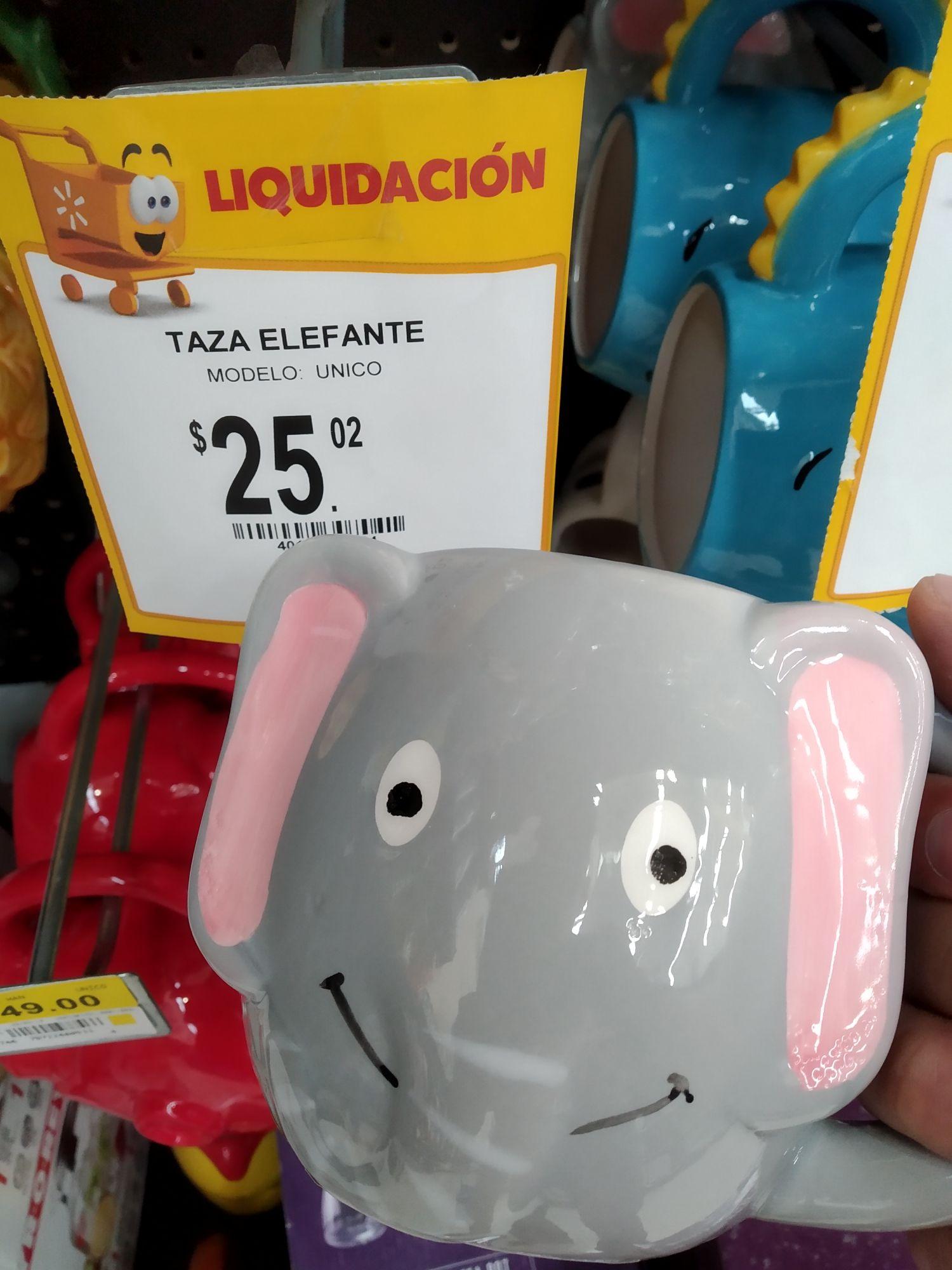 Walmart: taza de elefante en segunda liquidación.