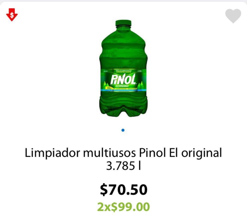 Walmart: 2 Limpiador multiusos Pinol El original 3.785 l