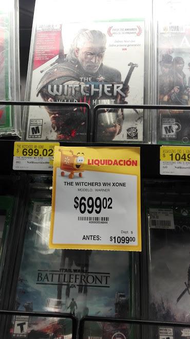 Walmart: The witcher 3 (fisico) Xbox one