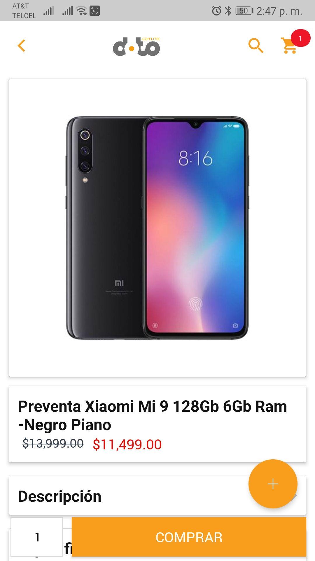 doto Xiaomi mi 9 de 128 GB en preventa en doto