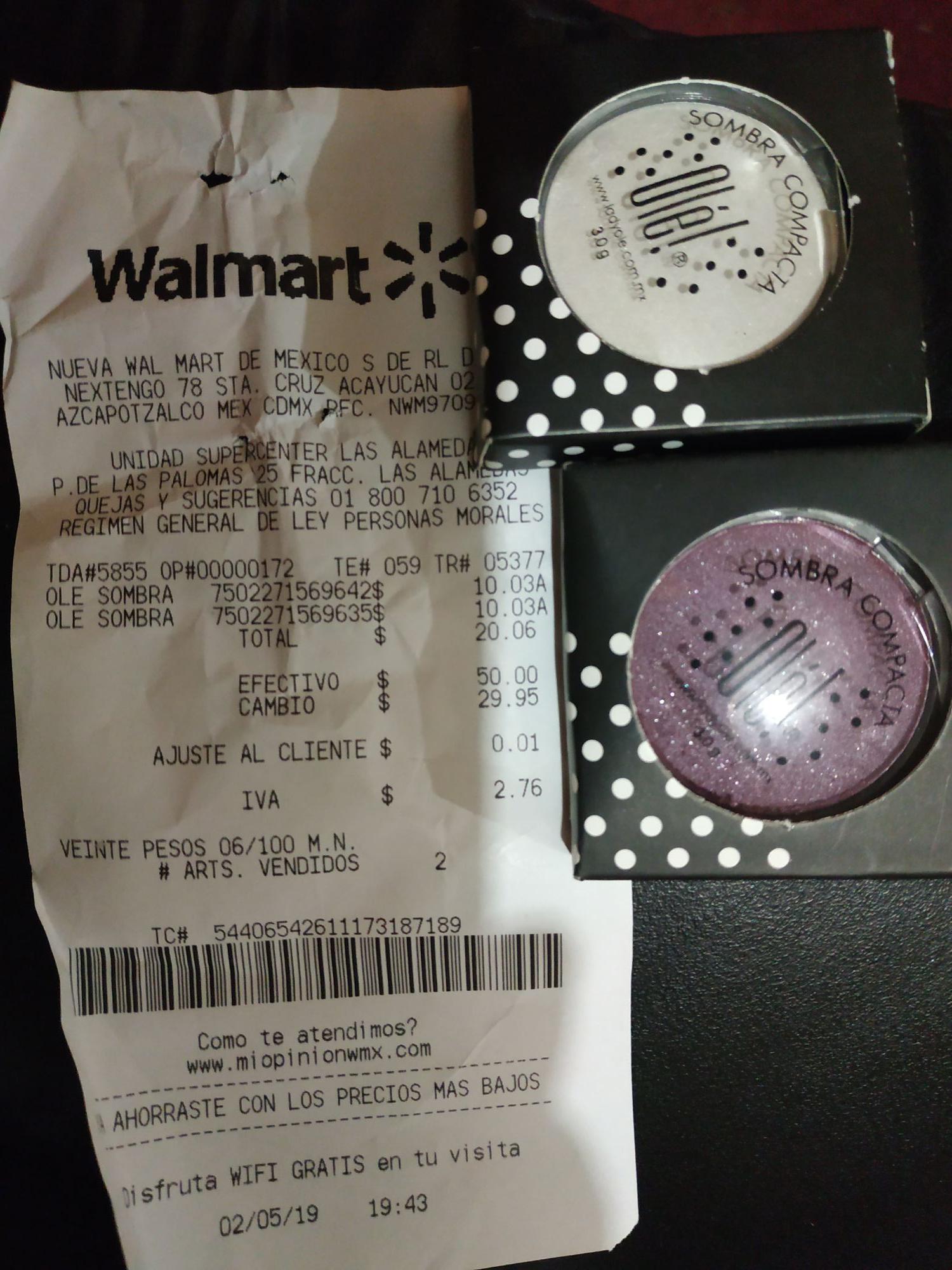 Walmart: Sombra en $10.00