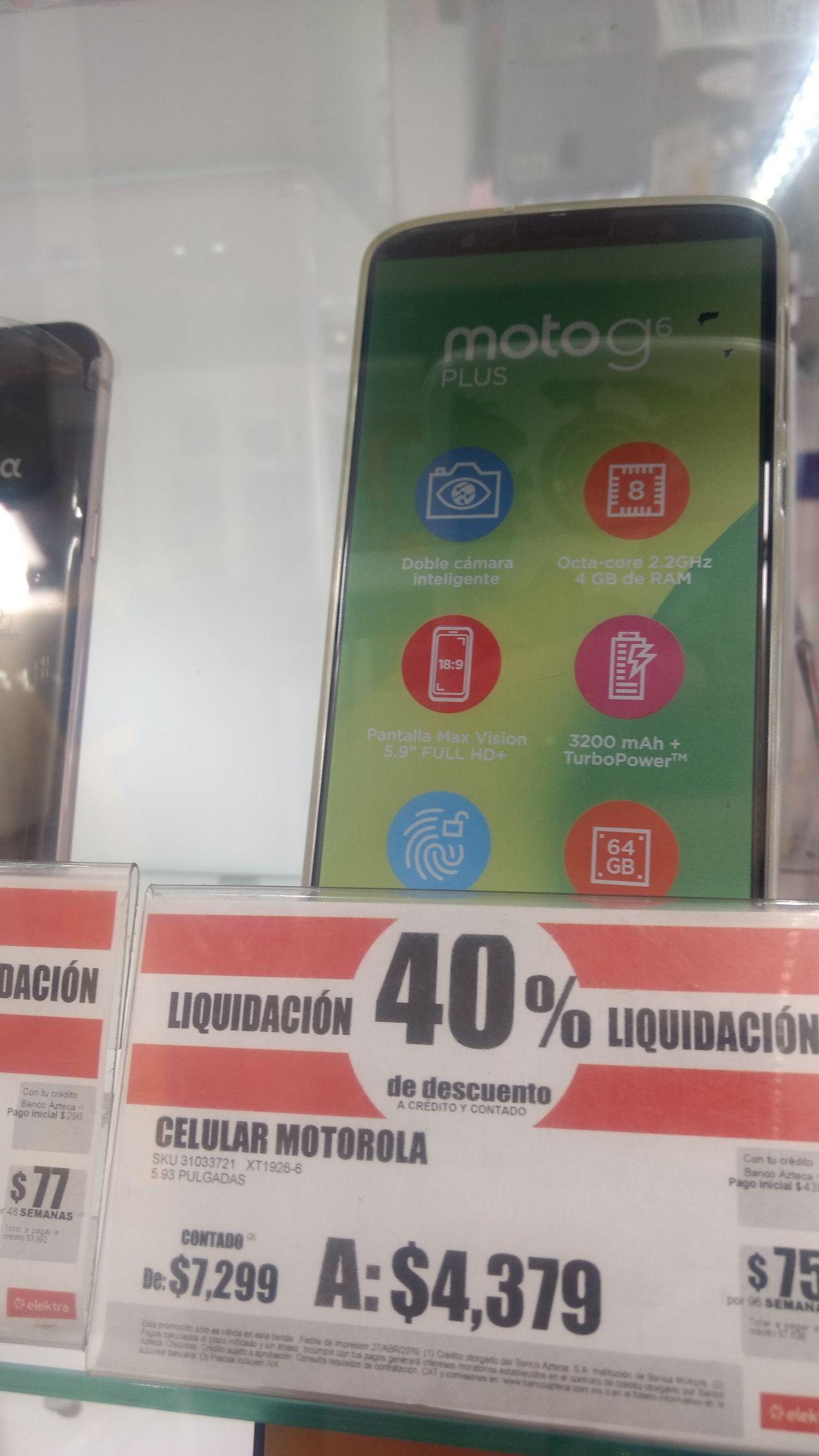 Elektra: Moto G6 Plus XT1926-6 4GB RAM / 64GB ROM