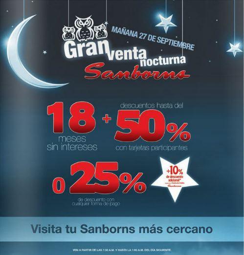 Venta Nocturna Sanborns 27 de septiembre