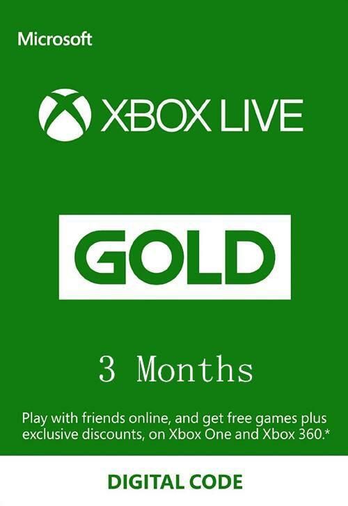 NoKeys: Xbox Live Gold 3 Meses 50% de Descuento