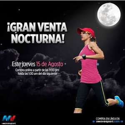 Venta nocturna Innova Sport para mujeres agosto 15