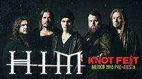 Jueves 2x1 Ticketmaster: Pre fiesta con HIM y entrada gral para festival KNOTFEST o solo entrada para festival.