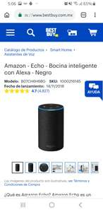 Best Buy Regalo incluido!   mazon - Echo - Bocina inteligente con Alexa - Negro  Amazon - Echo Dot - Bocina inteligente con Alexa - Negro