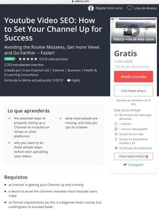 Udemy: Youtube Video SEO: How to Set Your Channel Up for Success
