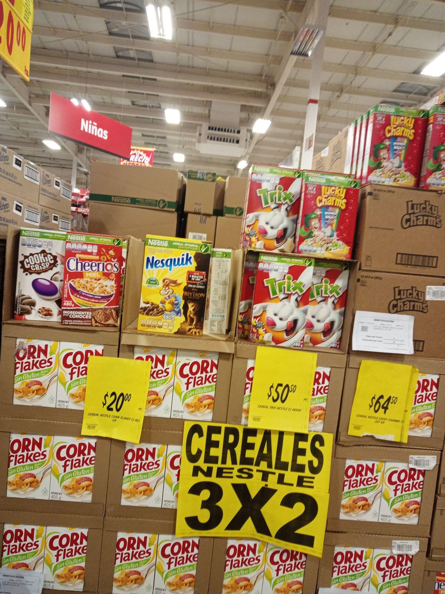 Soriana Híper: 3x2 en cereales nestle