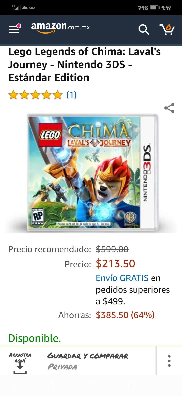Amazon MX: Lego Chima para Nintendo 3DS