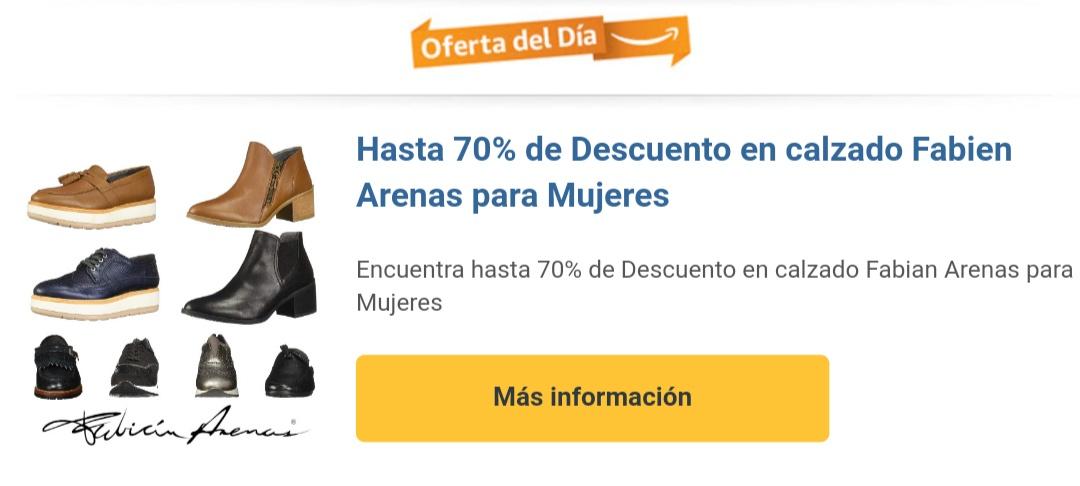 Amazon: Encuentra hasta 70% de Descuento en calzado