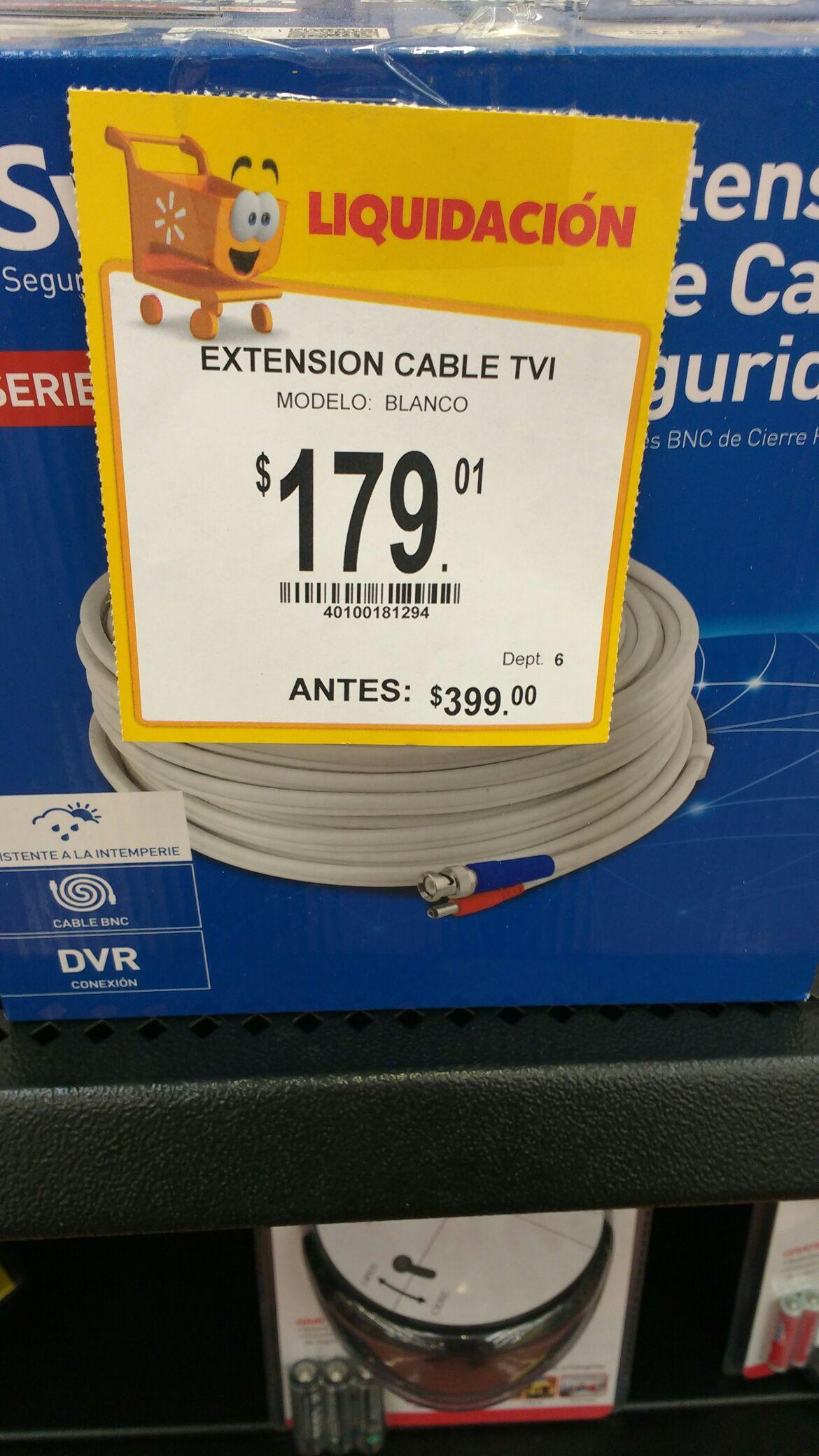 Walmart Clouthier León: Extensión cable TVI swann de 30 metros