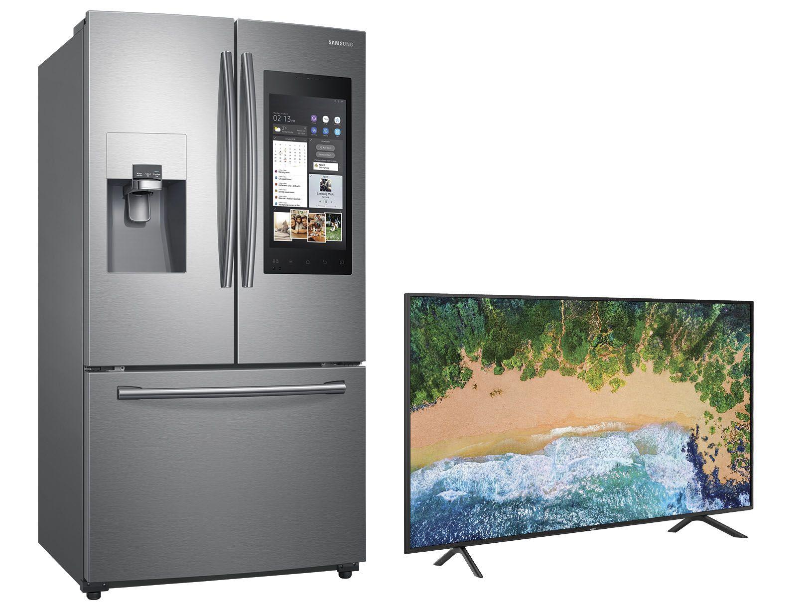 Liverpool:Combo de Refrigerador Family Hub + Pantalla Samsung RF265BEAESR