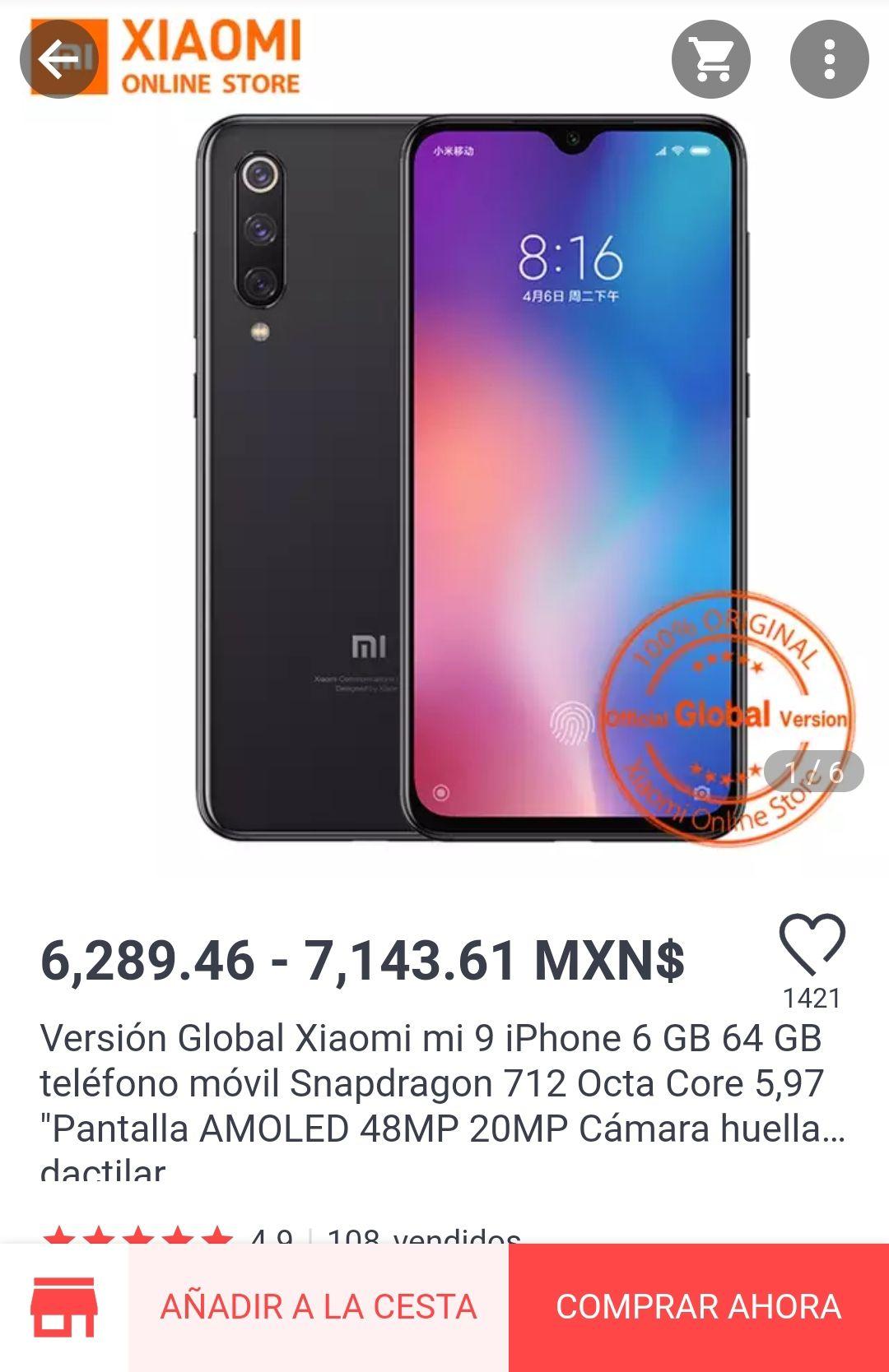 Aliexpress: Xiaomi Mi 9 SE