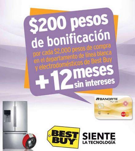 Best Buy: bonificación en línea blanca y electrodomésticos con Banorte e IXE