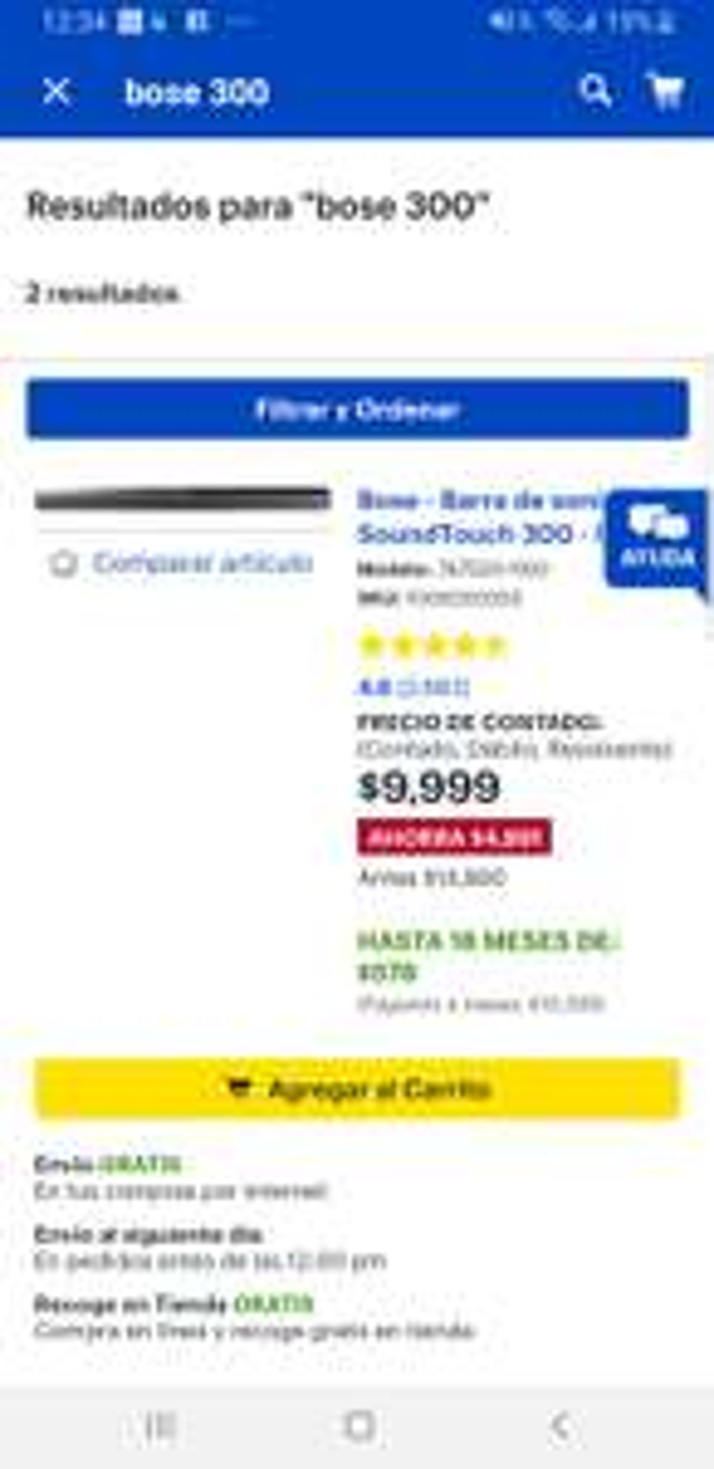 Best Buy: Barra de sonido Bose SoudTouch 300