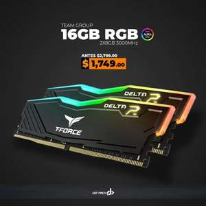 Ddtech: Ram RGB 16 Gb (2x8Gb) T-Force