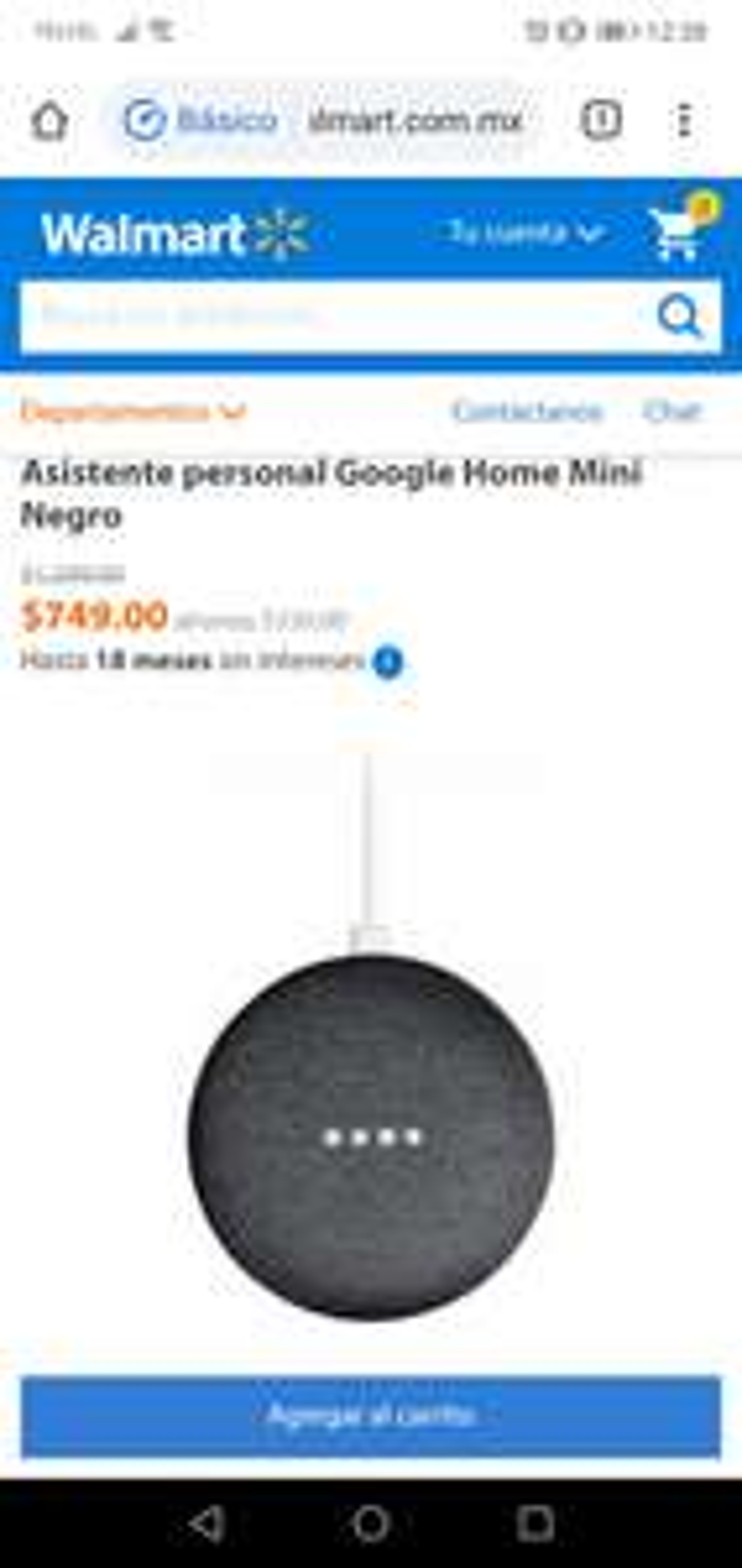 Walmart: Google Home Mini $749