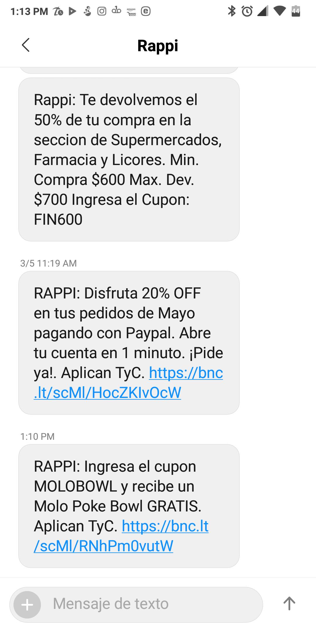 Rappi: molobowl gratis