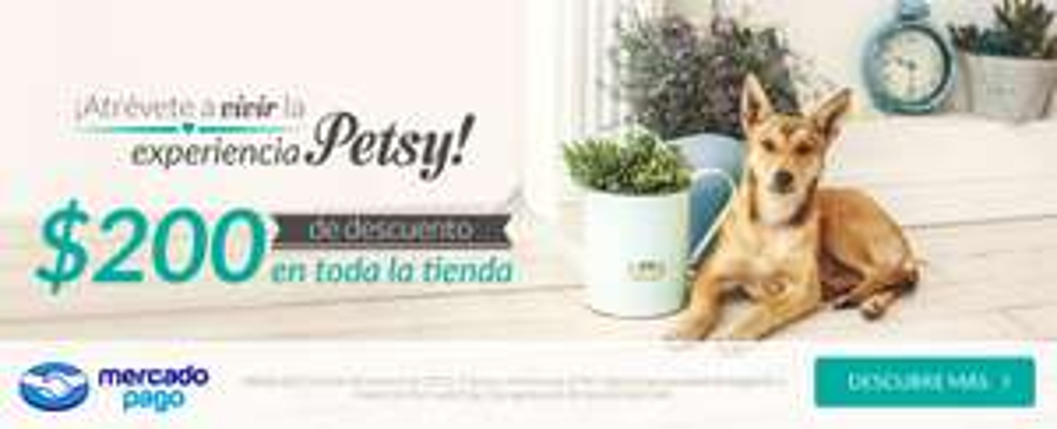 Petsy: $200 de descuento en compras de $700 pagando con MercadoPago