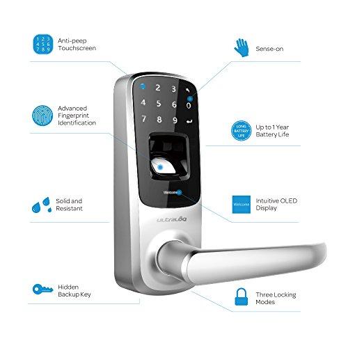 Amazon MX: Cerradura UltraloqUL3 Lector Biometrico Huella.