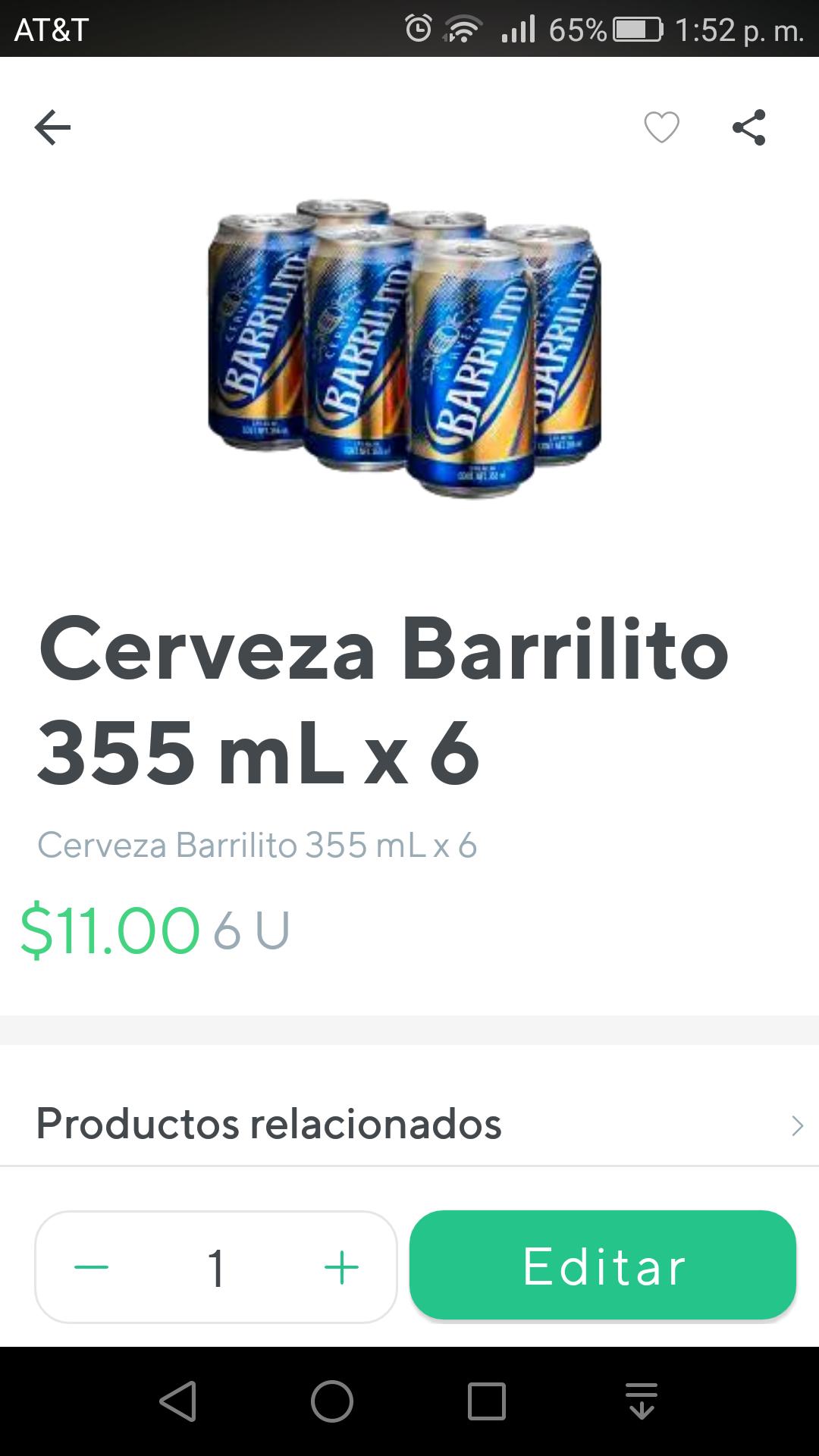 Rappi: Cervezas Barrilito 6x$11