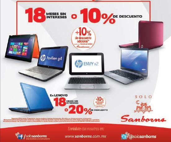 Ofertas en laptops en Sanborns, Palacio de Hierro y Office Depot