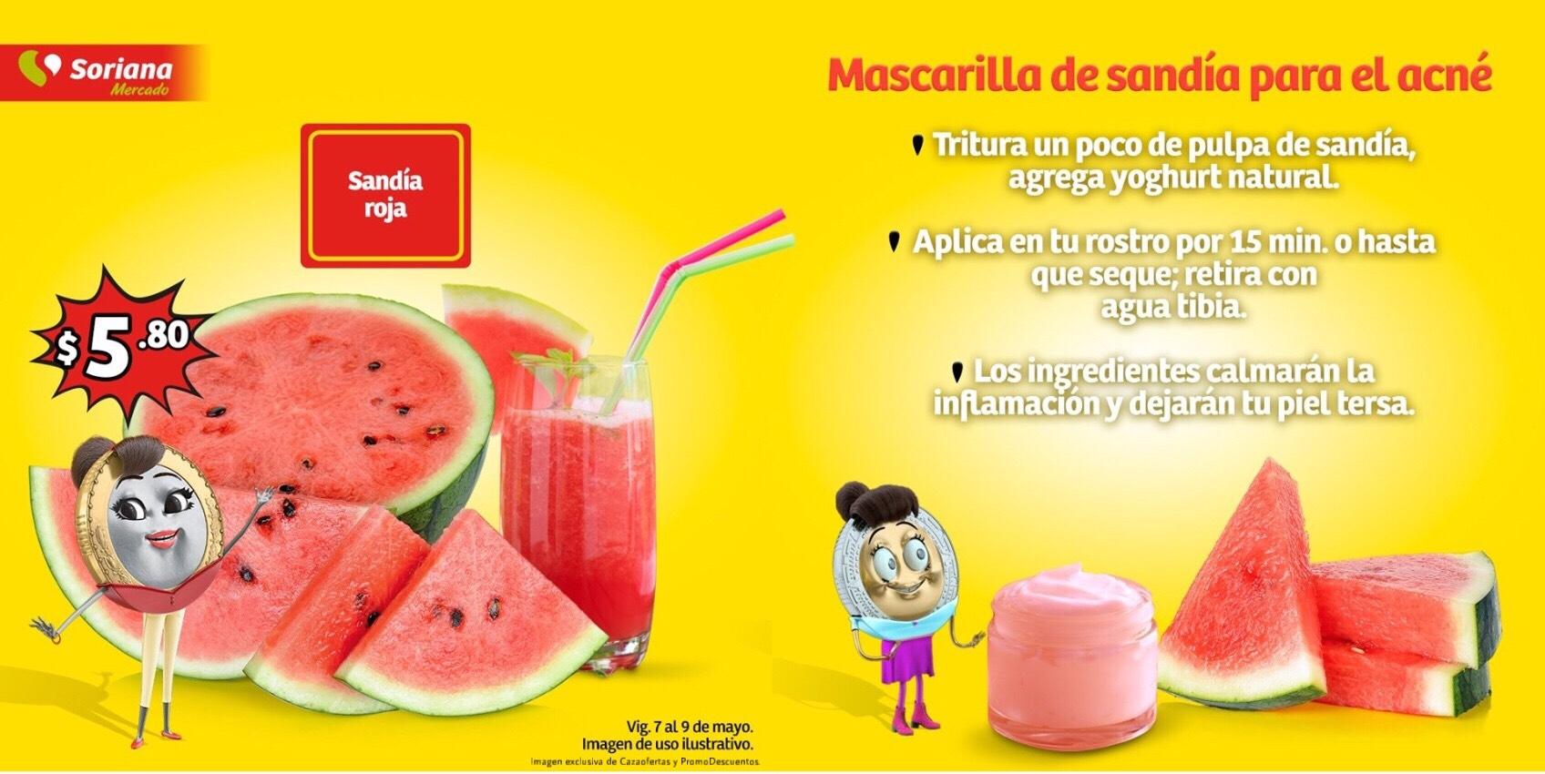 Soriana Mercado y Express: Ofertas y Promociones de Frutas, Verduras, Carnes, Aves y Mariscos del 07 al 09 de Mayo 2019