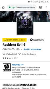 Microsoft Store: Resident evil 6 xbox one