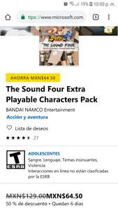 Microsoft Store: DLC The Sound Four Extra Playable Characters Pack NARUTO STORM 4 XBOX ONE