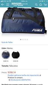 Amazon Bolsa deportiva Puma color azul