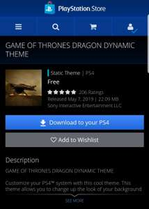 Psn store: tema de game of thrones gratis