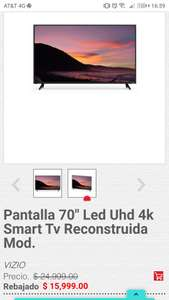 "Heb: Pantalla Vizio 70"" Led Uhd 4k Smart Tv Reconstruida"
