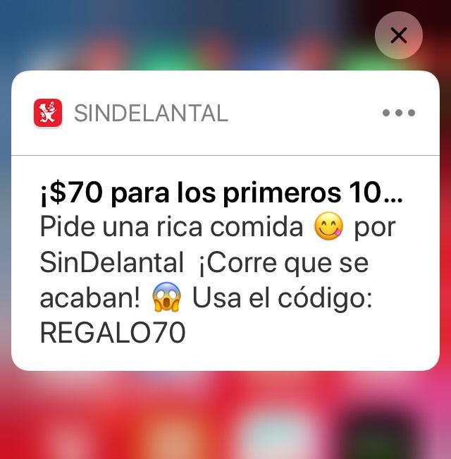 SinDelantal: Cupón de $70
