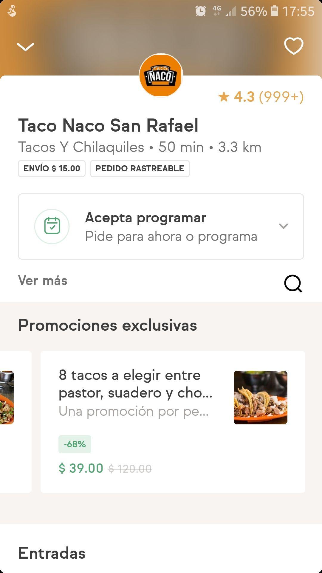 SinDelantal CDMX: 8 tacos por $54