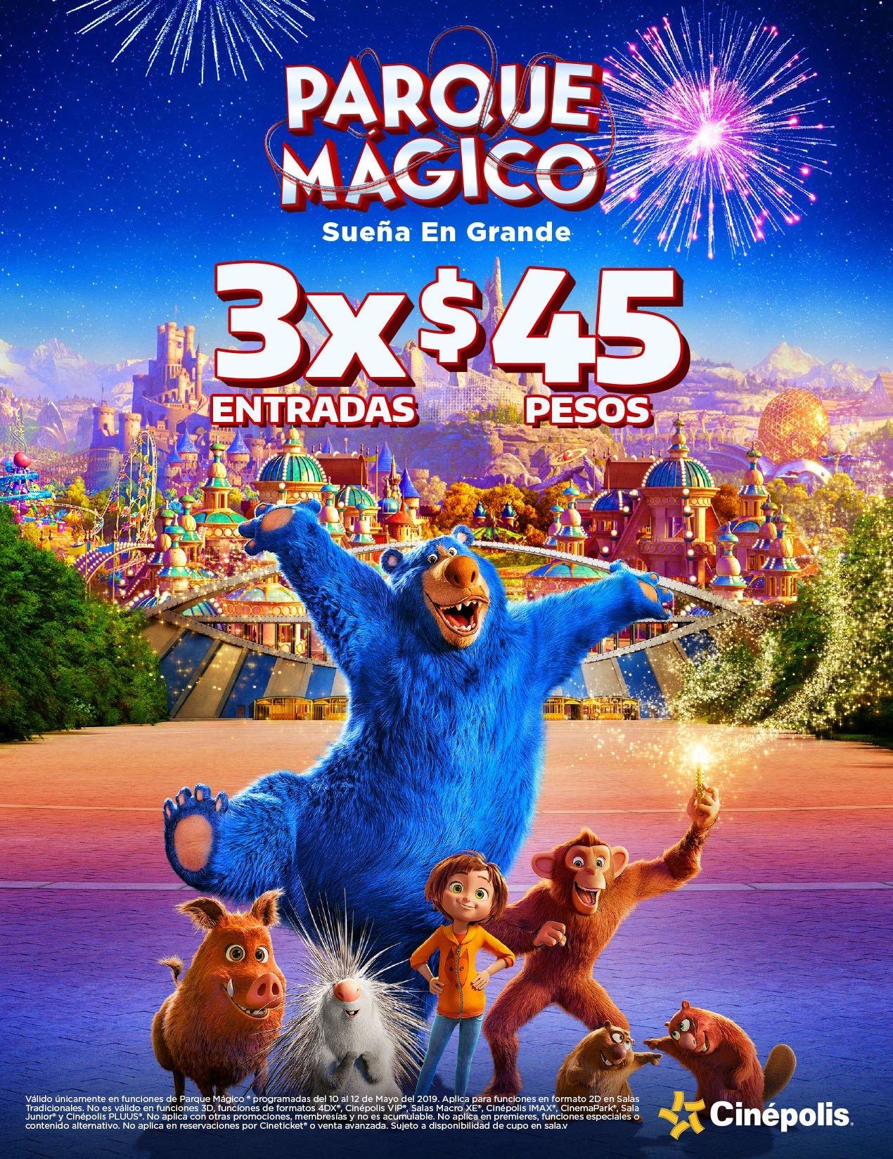 Cinépolis: Boleto para Parque Mágico a $15