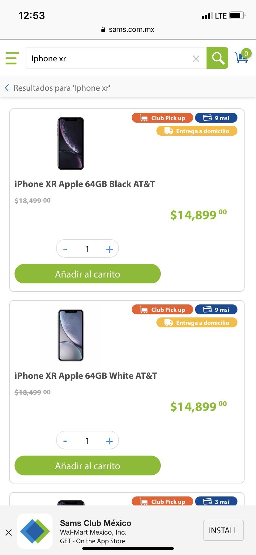 Sam's Club: iPhone XR 64 gb