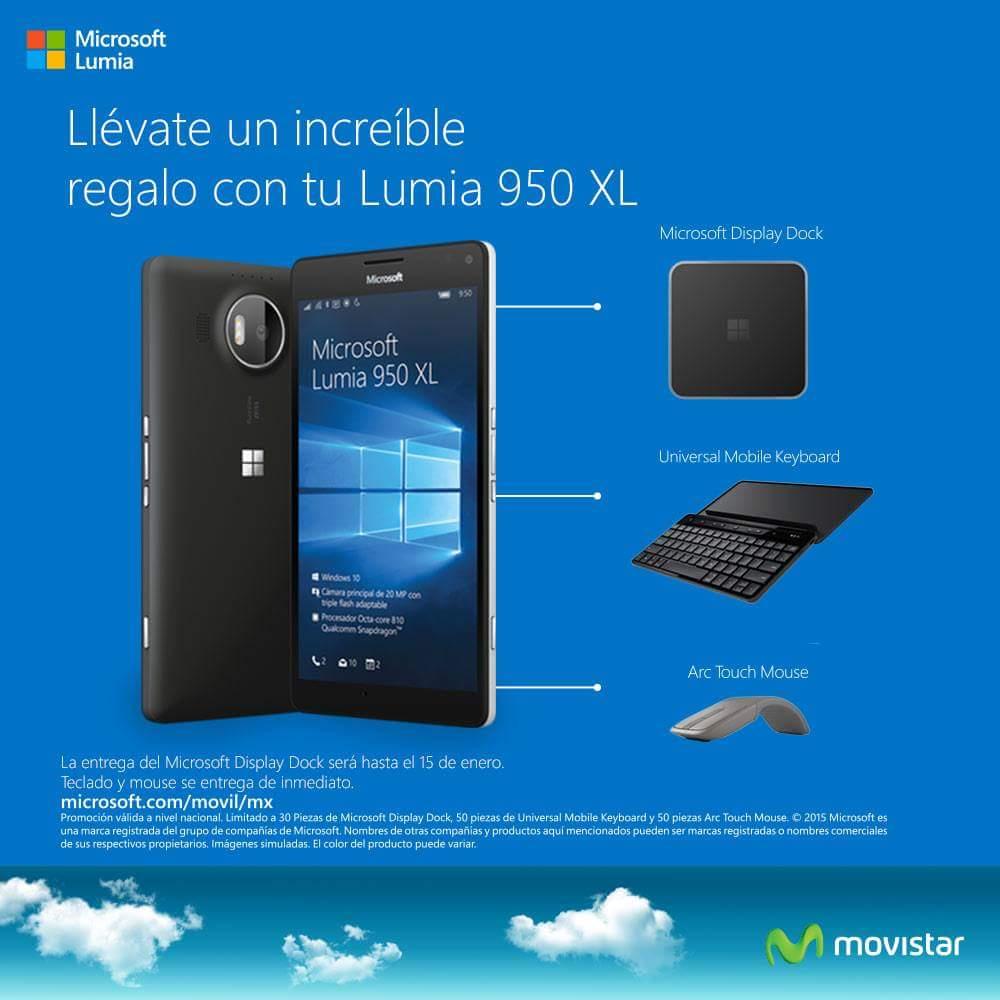 Movistar: Lumia 950XL Prepago 2Mil de Cupon. Gratis en Vas a Volar