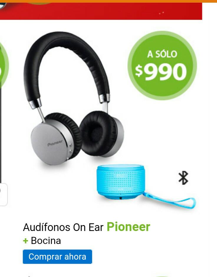 Walmart Online: Audifonos On Ear Pioneer mas bocina a $990