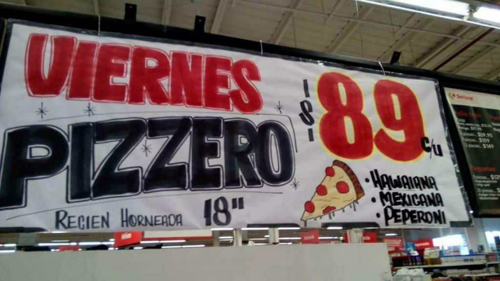 "Soriana Mercado y Express: Pizza Familiar 18"" a $89"
