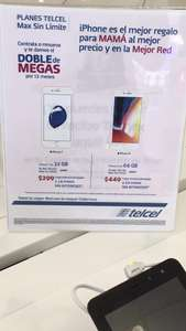 Telcel: Iphone 7 a 299 mensuales